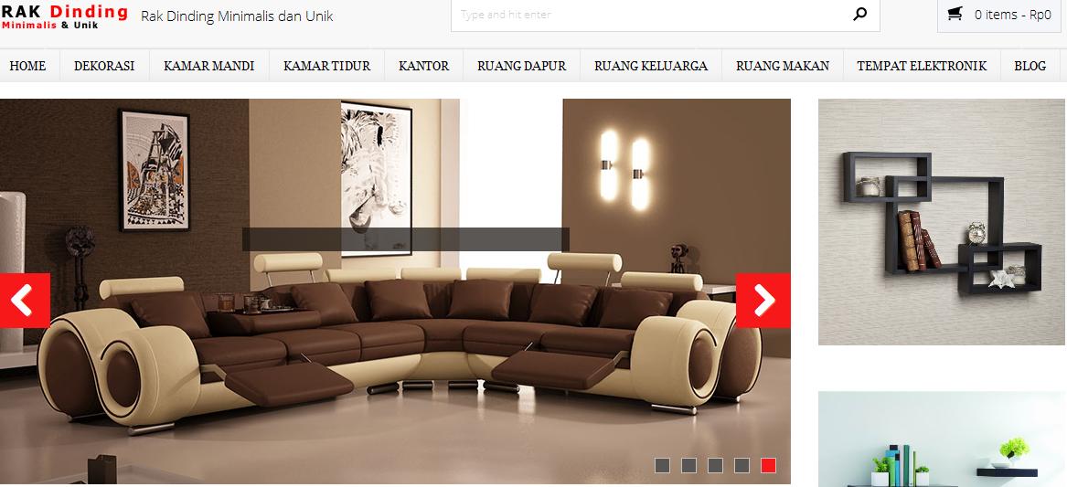 Pembuatan Website Rak Dinding Online Shop