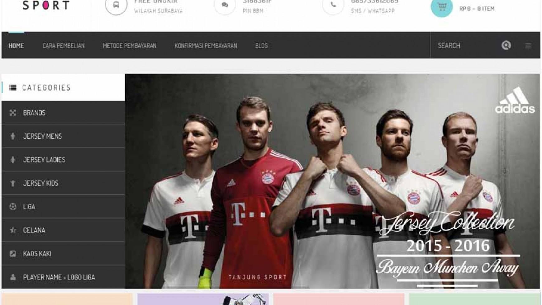 Pembuatan Website Online Store Tanjung Sport